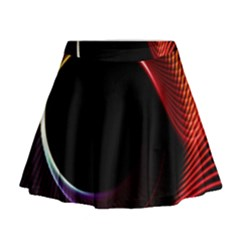Grid Bent Vibration Ease Bend Mini Flare Skirt