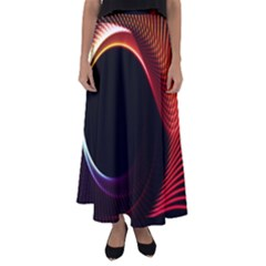 Grid Bent Vibration Ease Bend Flared Maxi Skirt