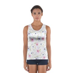Floral Pattern Background Sport Tank Top