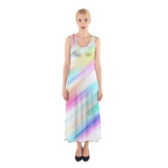 Background Course Abstract Pattern Sleeveless Maxi Dress