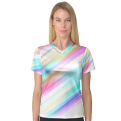 Background Course Abstract Pattern V Neck Sport Mesh Tee