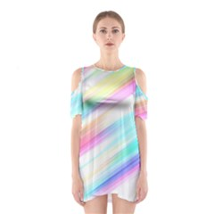 Background Course Abstract Pattern Shoulder Cutout One Piece