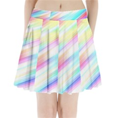 Background Course Abstract Pattern Pleated Mini Skirt