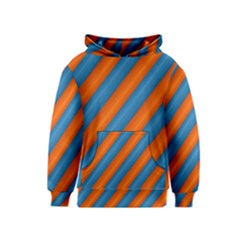 Diagonal Stripes Striped Lines Kids  Pullover Hoodie