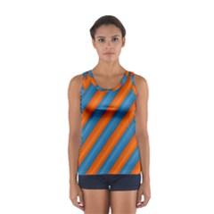 Diagonal Stripes Striped Lines Sport Tank Top