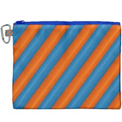Diagonal Stripes Striped Lines Canvas Cosmetic Bag (xxxl)
