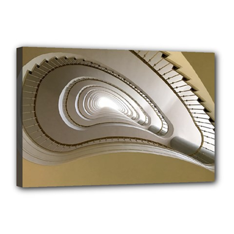 Staircase Berlin Architecture Canvas 18  X 12