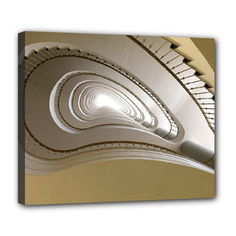 Staircase Berlin Architecture Deluxe Canvas 24  X 20