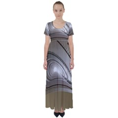 Staircase Berlin Architecture High Waist Short Sleeve Maxi Dress