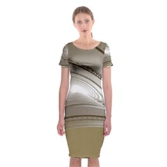 Staircase Berlin Architecture Classic Short Sleeve Midi Dress