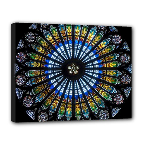 Rose Window Strasbourg Cathedral Canvas 14  X 11