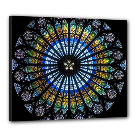 Rose Window Strasbourg Cathedral Canvas 24  X 20