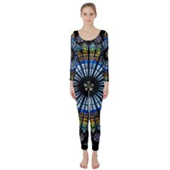 Rose Window Strasbourg Cathedral Long Sleeve Catsuit