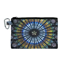 Rose Window Strasbourg Cathedral Canvas Cosmetic Bag (medium)