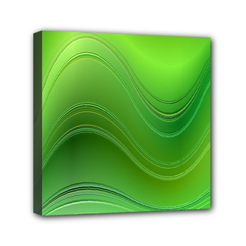 Green Wave Background Abstract Canvas Travel Bag