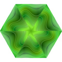 Green Wave Background Abstract Mini Folding Umbrellas