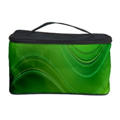 Green Wave Background Abstract Cosmetic Storage Case