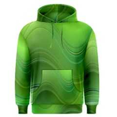 Green Wave Background Abstract Men s Pullover Hoodie