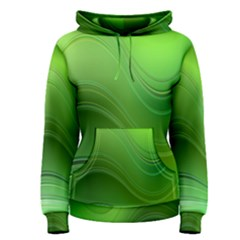 Green Wave Background Abstract Women s Pullover Hoodie