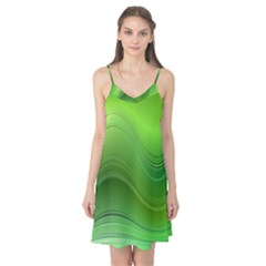 Green Wave Background Abstract Camis Nightgown