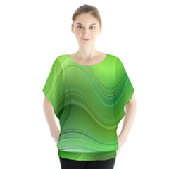 Green Wave Background Abstract Blouse