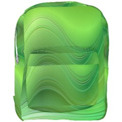 Green Wave Background Abstract Full Print Backpack