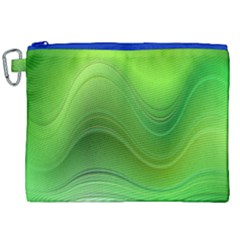 Green Wave Background Abstract Canvas Cosmetic Bag (xxl)