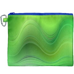 Green Wave Background Abstract Canvas Cosmetic Bag (xxxl)