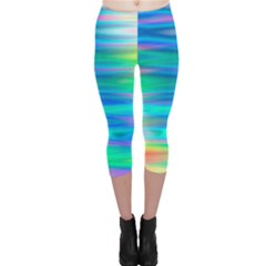 Wave Rainbow Bright Texture Capri Leggings