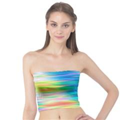 Wave Rainbow Bright Texture Tube Top