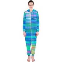 Wave Rainbow Bright Texture Hooded Jumpsuit (ladies)