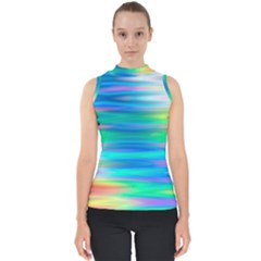 Wave Rainbow Bright Texture Shell Top