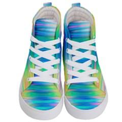 Wave Rainbow Bright Texture Kid s Hi Top Skate Sneakers