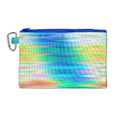 Wave Rainbow Bright Texture Canvas Cosmetic Bag (large)