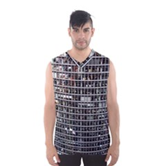 Skyscraper Glass Facade Offices Men s Basketball Tank Top