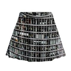 Skyscraper Glass Facade Offices Mini Flare Skirt