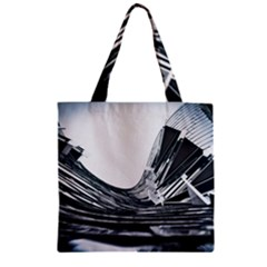 Architecture Modern Skyscraper Zipper Grocery Tote Bag