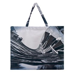 Architecture Modern Skyscraper Zipper Large Tote Bag