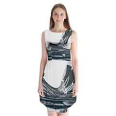 Architecture Modern Skyscraper Sleeveless Chiffon Dress