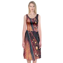 Abstract Wallpaper Images Midi Sleeveless Dress