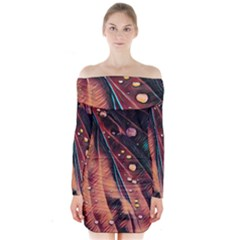 Abstract Wallpaper Images Long Sleeve Off Shoulder Dress