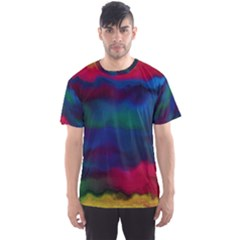 Watercolour Color Background Men s Sports Mesh Tee