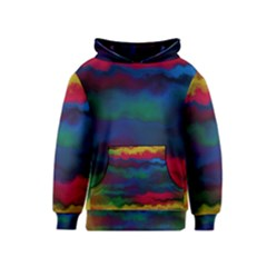 Watercolour Color Background Kids  Pullover Hoodie