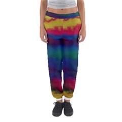Watercolour Color Background Women s Jogger Sweatpants