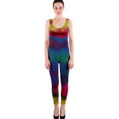 Watercolour Color Background Onepiece Catsuit