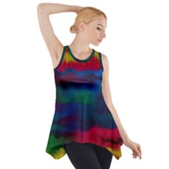 Watercolour Color Background Side Drop Tank Tunic