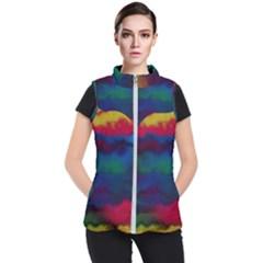 Watercolour Color Background Women s Puffer Vest