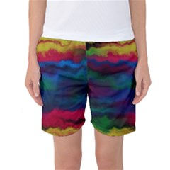 Watercolour Color Background Women s Basketball Shorts