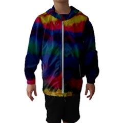 Watercolour Color Background Hooded Wind Breaker (kids)