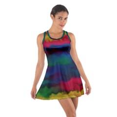 Watercolour Color Background Cotton Racerback Dress